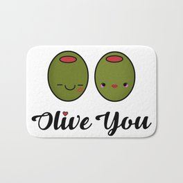 Olive You! Bath Mat