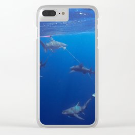 Shark Squad Clear iPhone Case