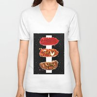 meat V-neck T-shirts featuring Meat by Danny Ivan