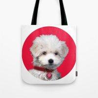 valentine Tote Bags featuring Valentine by Herzensdinge