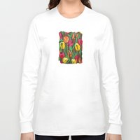 tulips Long Sleeve T-shirts featuring Tulips  by Marjolein