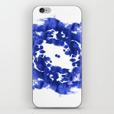 Blue Circle abstract painting enso minimal modern home office dorm college decor iPhone & iPod Skin