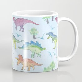 DINOSAURS!, painting by Frank-Joseph Coffee Mug