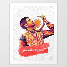 Gurdas Maan Art Print