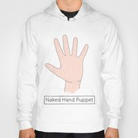 naked Hoodies featuring Naked by Digital Sketch