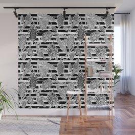 Beautiful Black and White Australiana Print Wall Mural