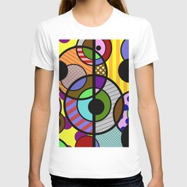Patterned Retro - Geometric, Abstract Artwork T-shirt