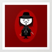 vendetta Art Prints featuring Vendetta by Sombras Blancas Art & Design