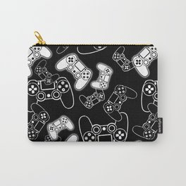 Video Games White on Black Carry-All Pouch