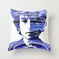 dylan Throw Pillows featuring Dylan by Alex Carlson