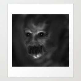 It sees you in the dark Art Print