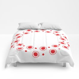 Retro red dot pattern Comforters