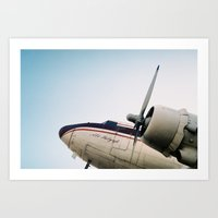 plane Art Prints featuring plane by denizerdem