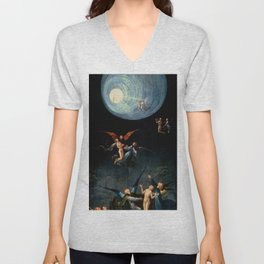 "Hieronymus Bosch ""Visions from the Hereafter - Ascend of the Blessed"" Unisex V-Neck"
