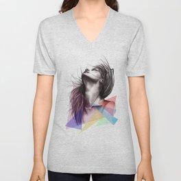 Crystalised // Fashion Illustration  Unisex V-Neck
