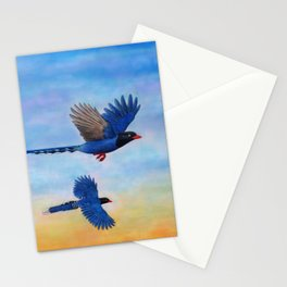 Taiwan Blue Magpies (2) Stationery Cards
