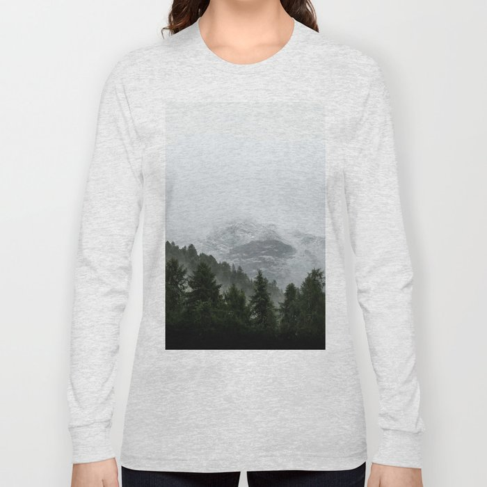 Faded Forest Landscape Long Sleeve T-shirt