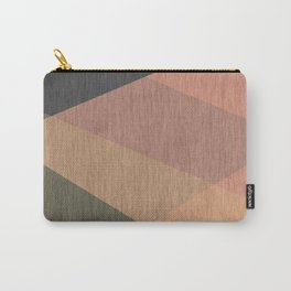 Green , grey , beige  abstract Carry-All Pouch