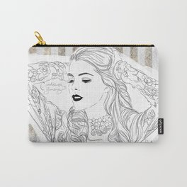 Black and vintage Carry-All Pouch