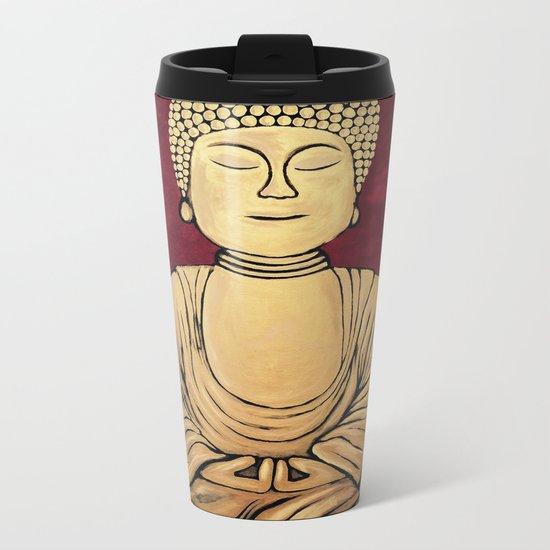 Golden Buddha Metal Travel Mug