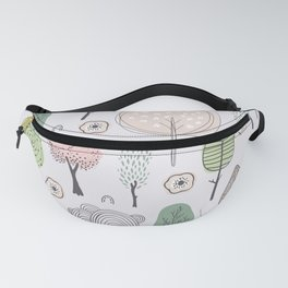 Mid Century Forest Fanny Pack