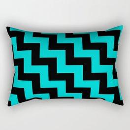 Black and Cyan Steps LTR Rectangular Pillow