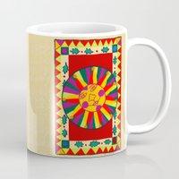 drum Mugs featuring Drum by Karen Cabral Sullivan Illustration & Des