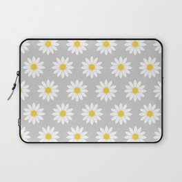 Daisies in Gray Laptop Sleeve