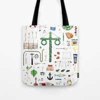 swedish Tote Bags featuring swedish midsummer by N Li