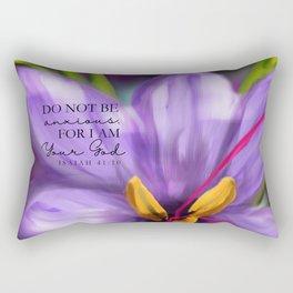 Do not be Anxious- Purple flower Rectangular Pillow