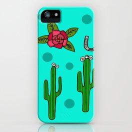 Cactus Rose in The Desert iPhone Case
