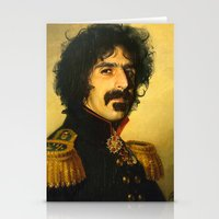 replaceface Stationery Cards featuring Frank Zappa - replaceface by replaceface