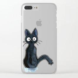 Black Cat Clear iPhone Case