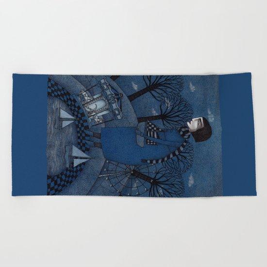 December Park (1) Beach Towel