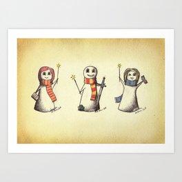 The Silver Trio Art Print