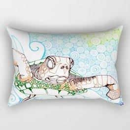 Scuba in Belize Color Rectangular Pillow