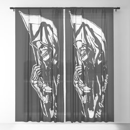 MAKE THIS OCTOBER AND HALLOWEEN A SCREAM WITH THE GRIM REAPER Sheer Curtain