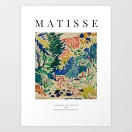 Landscape at Collioure - Henri Matisse - Exhibition Poster Art Print