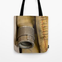 courage Tote Bags featuring Courage by Focusonwhatmatters