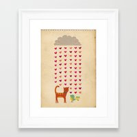 valentines Framed Art Prints featuring Valentines by Joanne Hawker