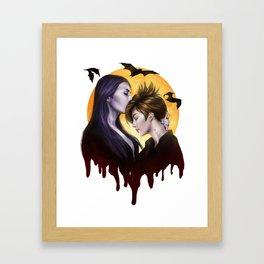 Vampire Kiss Framed Art Print