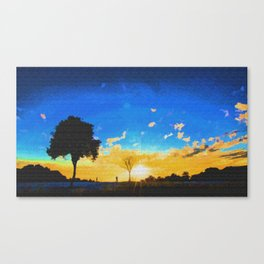 Before dusk melted colors of the world. Canvas Print