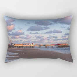 Blackpool Central Pier Sunset Rectangular Pillow
