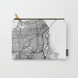 San Francisco Map White Carry-All Pouch