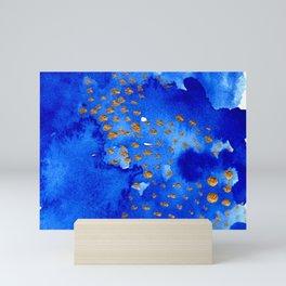 gold snow I Mini Art Print