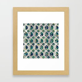 Marble and Gold Chessboard and Chess Pieces pattern Framed Art Print