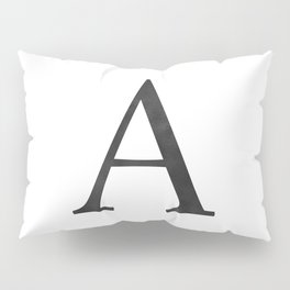 Letter A Initial Monogram Black and White Pillow Sham