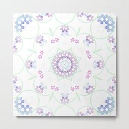 Flower Ring Metal Print