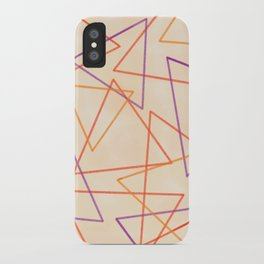 Warm Triangles iPhone Case