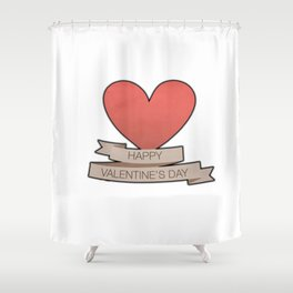 Happy Valentine's Day Shower Curtain